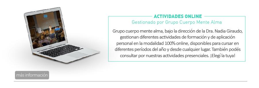 Actividades Online Grupo cuerpo mente alma